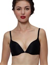 Daily Push-up Demi Bra Rhinestone Micro Flawless Black