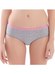Women's Comfort Hipster Panty Cotton Heather