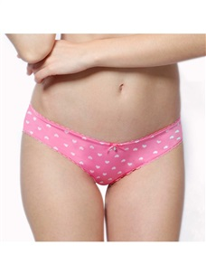 Women's Low Rise  Hipster Bikini Panty Stretchy Pink