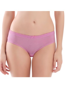 Women's Hipster Panty Micro Fiber Fuchsia Bow Front