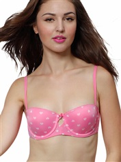 Smooth Bandeau Push-up Bra Micro Sweet Pink